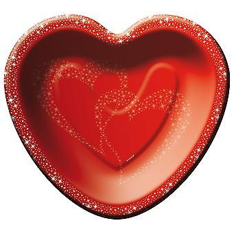 Καρδιά πλάκα 8 κομμάτι καρδιά γάμου Deco πλάκα καρδιά σχήμα κόκκινο