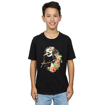 Janis Joplin Boys Floral Pattern T-Shirt