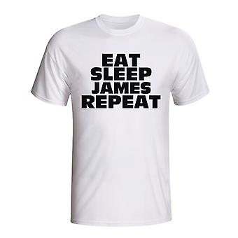 Eat Sleep James Repeat T-shirt (white) - Kids