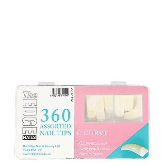 The Edge Nails C Curve Assorted Nail Tips (360 Pack)