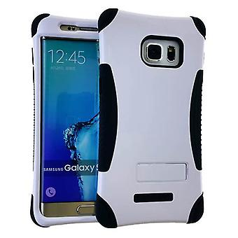 Kicker Series Protector Case for Samsung Galaxy S6 Edge Plus (Honey White Snap with Black Skin)