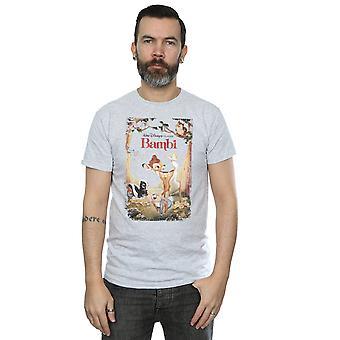 Disney mäns Bambi Retro affisch T-Shirt