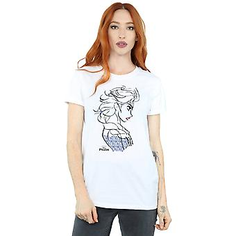 Disney Women's Frozen Elsa Sketch Boyfriend Fit T-Shirt