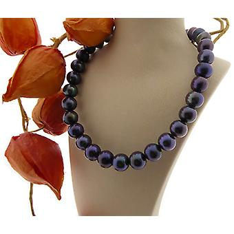 Christian anthracite Pearl Necklace