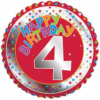 Creative Party Happy 4th Birthday Milestone Balloon
