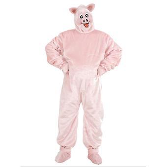 Costume peluche cochon (Costume blouson chaussure couvre masque)