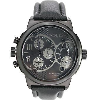 Police Herren Uhr Armbanduhr Leder Analog PL.12739JISB/02