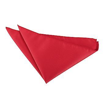 Röd Solid kontrollera Pocket Square
