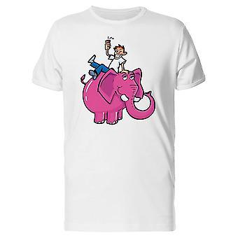 Hauska kaveri Pink Elephant Tee miesten-kuva: Shutterstock
