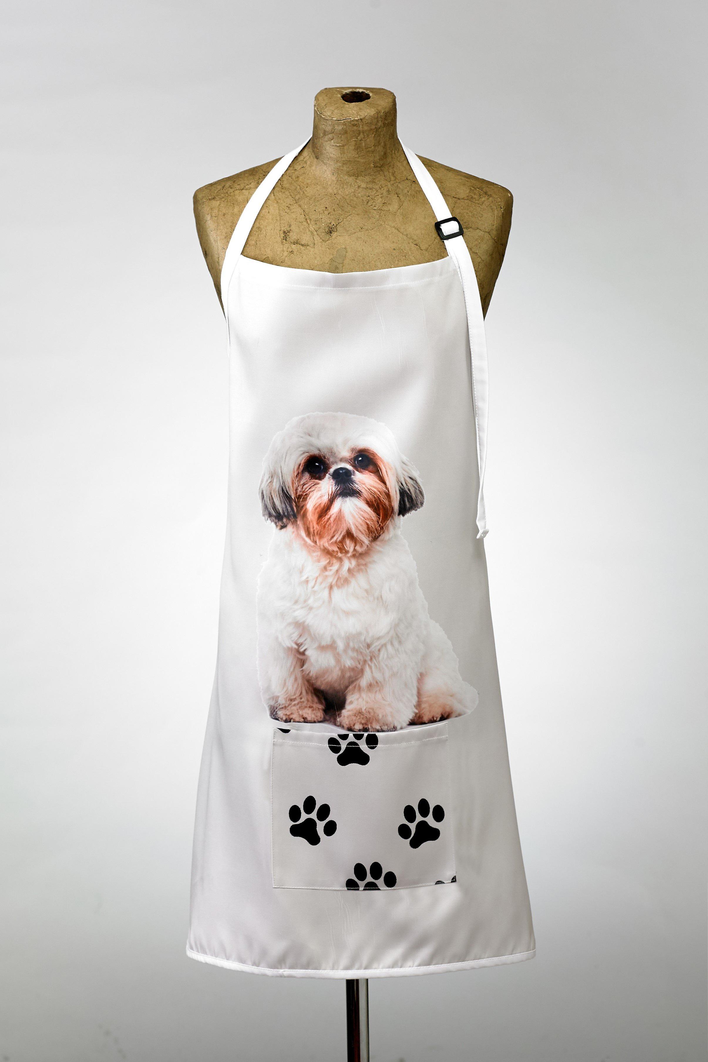 Adorable shih tzu design apron