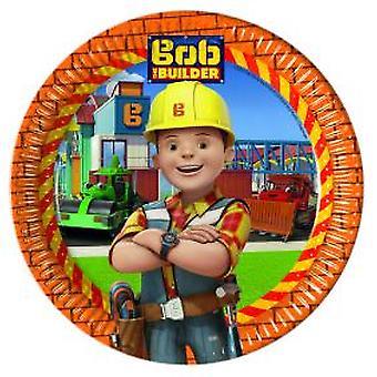 Bob of the Builder party plates Ø 23 cm 8 piece children birthday theme party