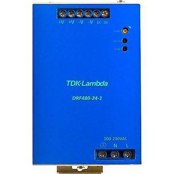 TDK-Lambda DRF-480-24-1 Rail mounted PSU (DIN) 24 V DC 480 W 1 x
