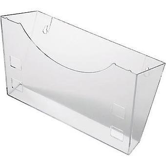 Helit glasklar H6103002 Brochure holder Glassy 1 pc(s) (W x H x D) 240 x 165 x 105 mm