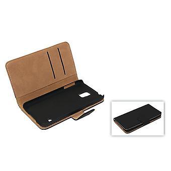 Schutzhülle Handytasche (Flip Quer) für Handy Apple iPhone 6 Schwarz