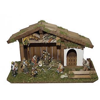 Crib GENESIS wooden Manger Nativity Christmas Nativity stable
