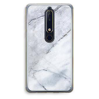 Nokia 6 (2018) gjennomsiktig sak (myk) - marmor hvit