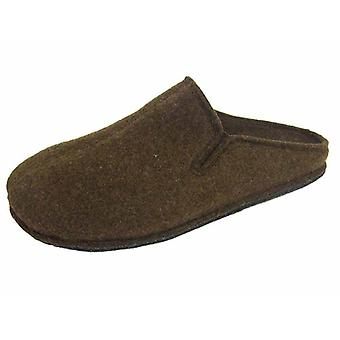 Coolers Mens Plain Microfleece Twin Gusset Mule Slippers