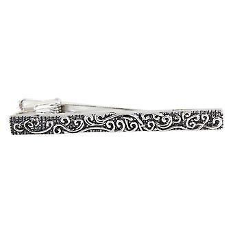 Knightsbridge Krawatten Wirbel Krawattenklammer - Silber