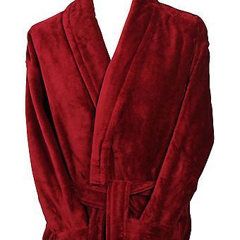 Bown de Londres Baron coton velours Peignoir - Claret
