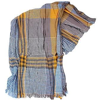 Foulard en coton Vichy Neckwear Knightsbridge - bleu/Orange
