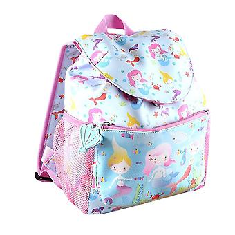 Девочек русалки ПВХ синий и розовый рюкзак