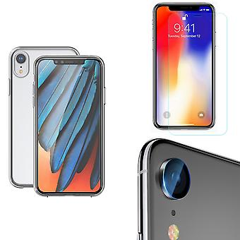 Apple iPhone XR Telefon fall Omslag mål kameralins 9H tankskydd Glas Klart
