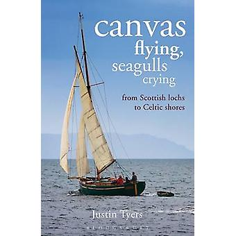 Canvas Flying Seagulls Crying  From Scottish Lochs to Celtic Shores by Justin Tyers