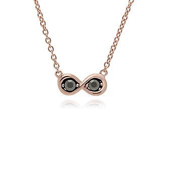 Gemondo Rose Gold Plated Sterling Silber Markasit Infinity Design 42cm Halskette