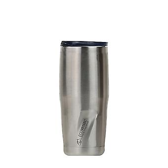 EcoVessel METRO TriMax Insulated St Steel Tumbler - Silver Express Brushed 24 oz