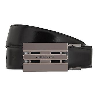 MIGUEL BELLIDO clasico belt belt men's belts leather belt black/Cognac 7734