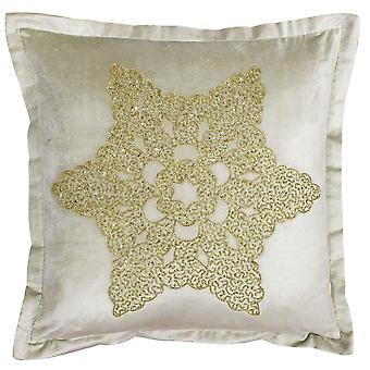 Riva Paoletti Wonderland Snowflake Christmas Cushion Cover