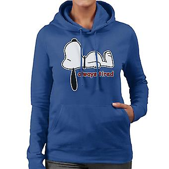 Snoopy Always Tired Women's Hooded Sweatshirt