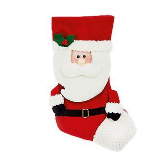 TRIXES 52cm jul Santa nuværende strømpe