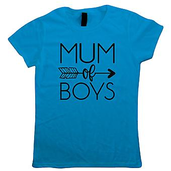 Mum Of Boys Arrow, Womens T Shirt - Mothers Day Best Mum Gift Her