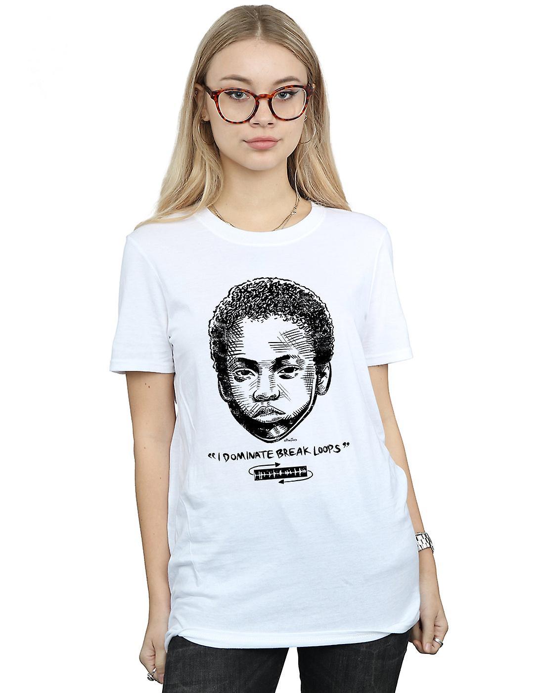 Pennytees Women's Break Loops Boyfriend Fit T-Shirt