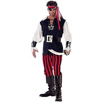 Monoculaire piraat volwassen kostuum