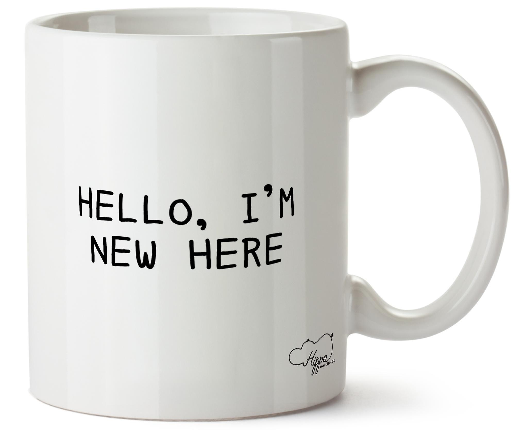 Hippowarehouse Hello, I'm New Here Printed Mug Cup Ceramic 10oz