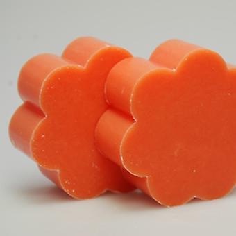 Leite de ovelha Florex SOAP - pêssego - dá à pele um perfume delicado em forma de flor redonda 115 g