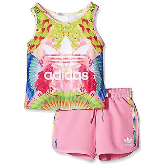 Adidas Originals Infant flickor Trefoil Tank och Shorts Set - AJ0024