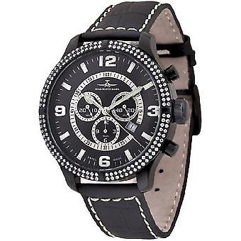 Zeno-watch Herre ur OS retro Chrono Parisienne sort 8830Q-bk-h1