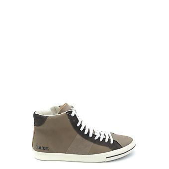 D.a.t.e. Ezbc177006 Men's Beige Leather Hi Top Sneakers