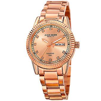 Cadran Sunray akribos XXIV femmes sur bracelet montre AK965RG