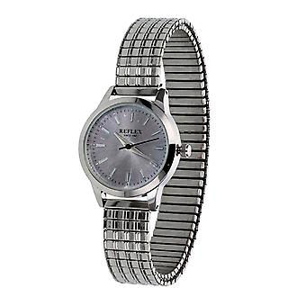 Reflex Mens Analogue Classic Quartz Watch with Stainless Steel Strap REFX0004