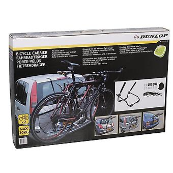 Dunlop Bicycle carrier for two bicycles black
