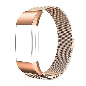 FitBit Charge 2 Strap Milanese Steel Magnetic Clasp Gold Strap