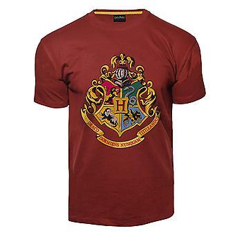 Lizenzierte unisex gedruckt harry Potter™ Hogwarts™ t shirt kastanienbraun