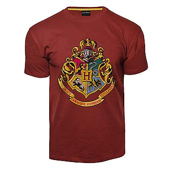 Licensed unisex printed harry potter™ hogwarts™ t shirt maroon