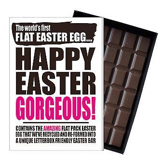 Funny Flat Easter Egg Chocolate Bar Greeting Card Gift Women Girlfriend Wife UK EIYF150