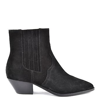 Ash Footwear Future Black Suede Ankle Boot