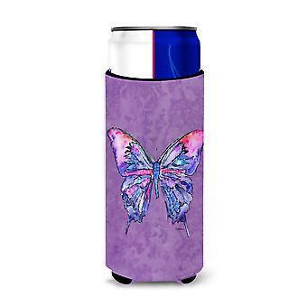 Butterfly on Purple Ultra Beverage Insulators for slim cans 8860MUK